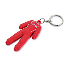 RUBBER SUIT-SHAPED KEYRING
