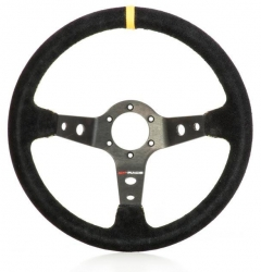 CONDOR BLACK/YELLOW SUEDE STEERING WHEEL