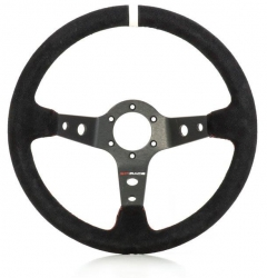 CONDOR BLACK/RED SUEDE STEERING WHEEL